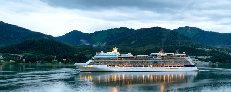Cruise ship entering Juneau