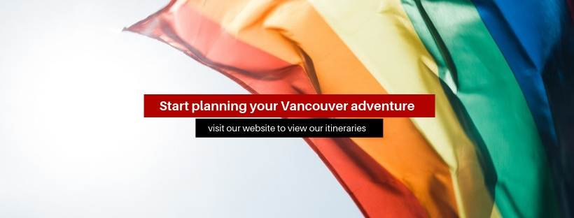 """A banner that says """"start planning your Vancouver adventure"""""""