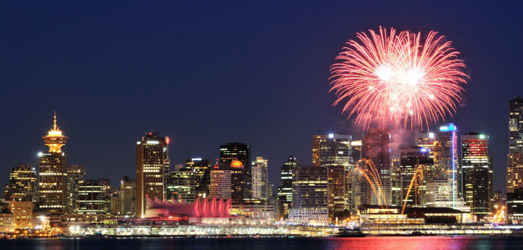 Canada Day Fireworks over Vancouver
