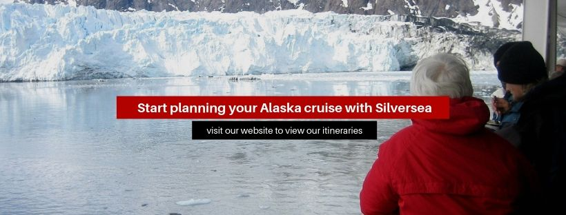 "A banner that says ""Start planning your Alaska cruise with Silversea"""