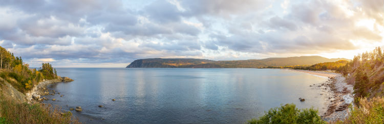 Panorama of beautiful autumn view