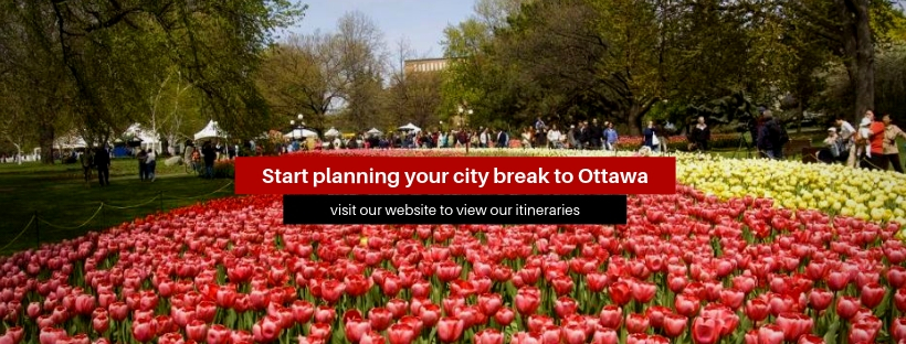 "A banner that reads ""Start planning your city break to Ottawa"""
