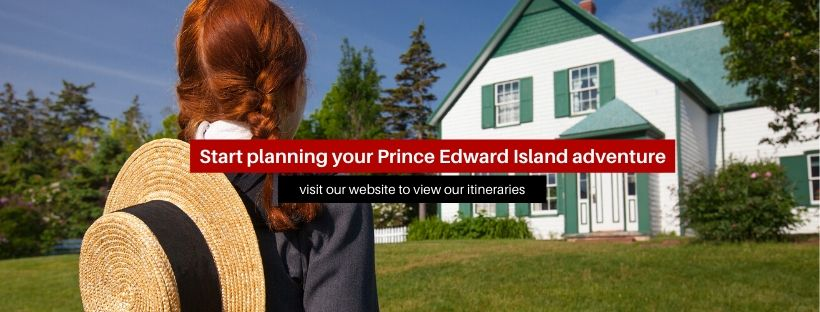 "A banner that reads ""Start planning your Prince Edward Island adventure"""